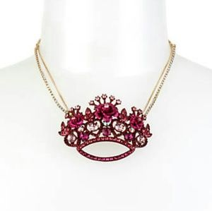 Betsey Johnson In Love Crown Necklace